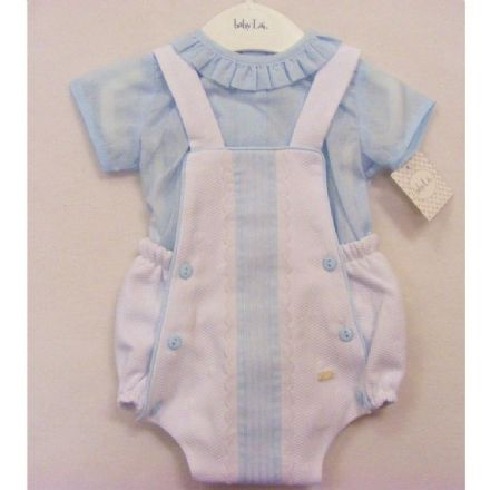 Baby Lai White and Blue Romper